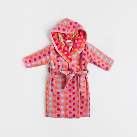 ХАЛАТ КУПАЛЬНЫЙ 'РАЗНОЦВЕТНЫЕ ТОЧКИ' - банные халаты и коврики для ванной - Ванная комната | Zara Home Российская Федерация