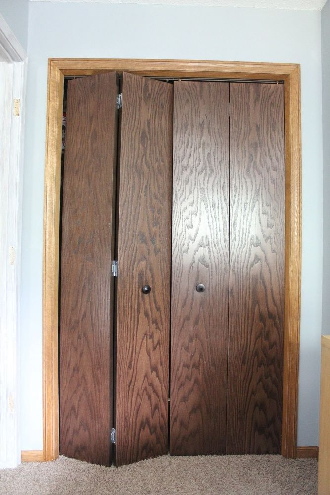 Diy Closet Door Makeover Idea Bifold Doors Makeover Closet Door