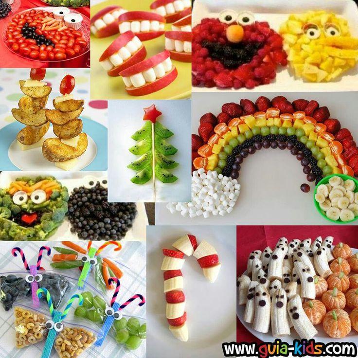 LOVE THE HALLOWEEN ONE! Cute Kid Food ... love the rainbow #momsgotink
