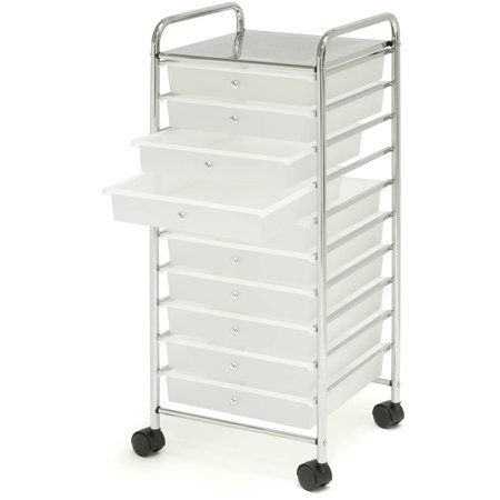 Free Shipping Buy Large 10 Drawer Organizer Cart Frosted White
