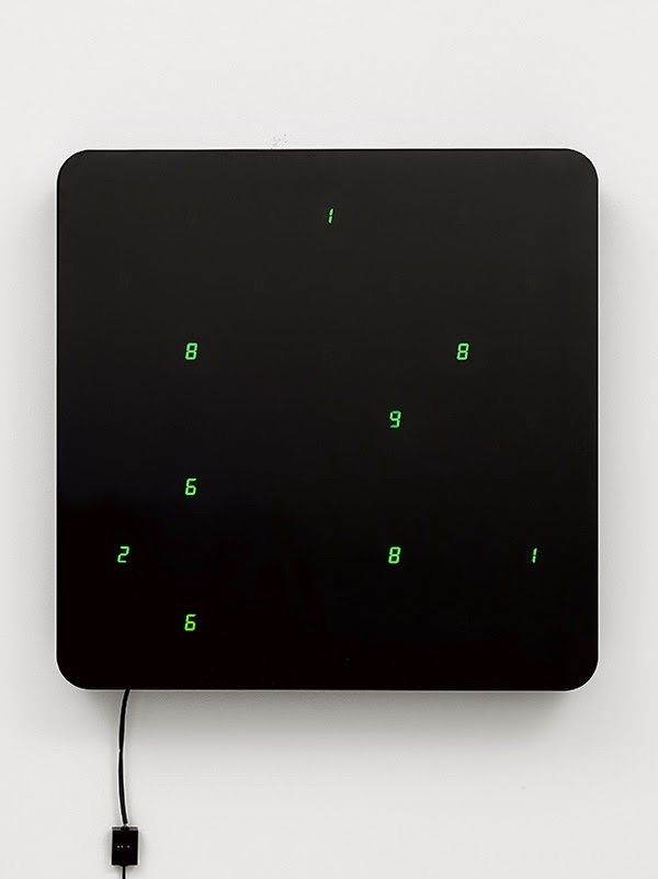 Tatsuo Miyajima / Lisson Gallery / Ku / Life (Ku-Wall) No.5 / Installation / 2014