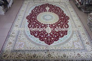 10*14 FT high quality Handmade pure silk Arab carp…