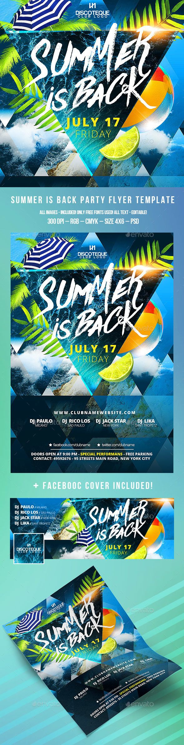 Summer Flyer Template PSD. Download here: http://graphicriver.net/item/summer-flyer/15418039?ref=ksioks