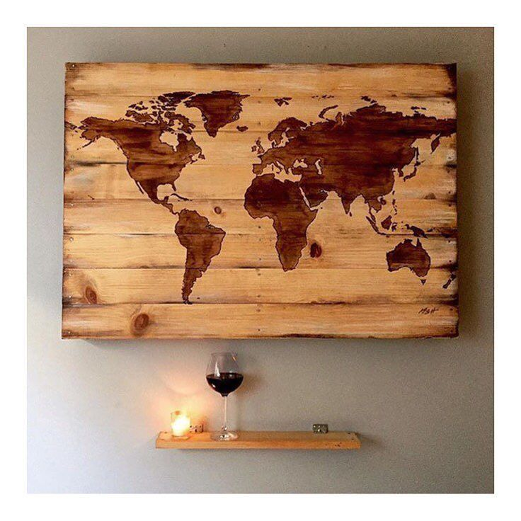 #interiorporn for sure! A woodburnt map of the world by @muggsters #inspo #wine #winelovers #sillybuggers #world #love #vino #interiordesign #earth de sillybuggerswine