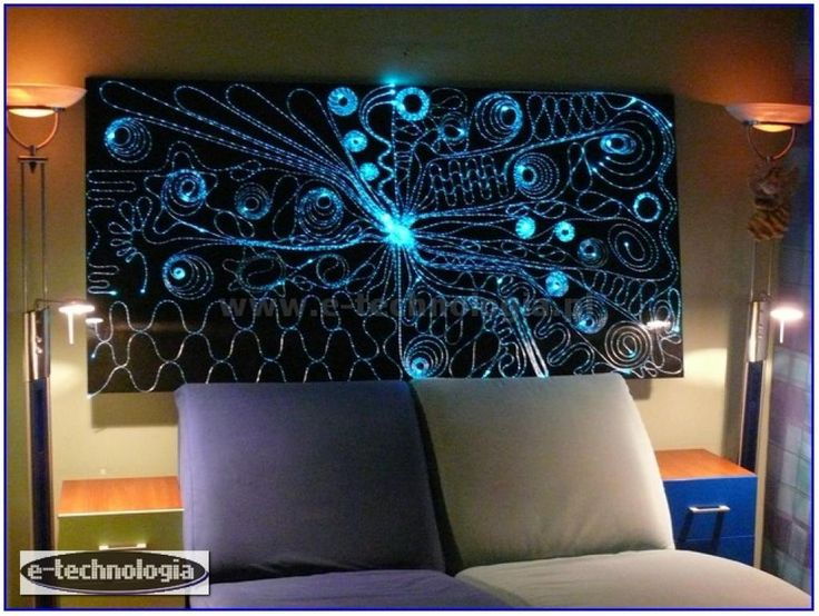 Lighting and interior room - walls glowing - interior walls - wall design - design room - patterns on the wall - paintings on the wall - modern architecture www.e-technologia.pl
