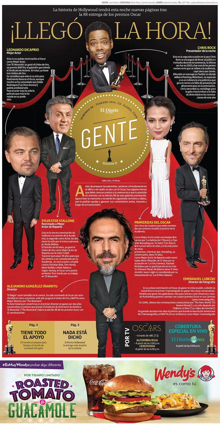 Portada de la sección Gente. Información previa de la entrega del premio Oscar 2016