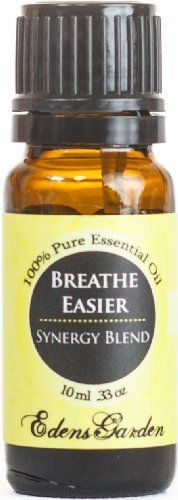 Breathe Easy Synergy Blend Essential Oil- 10 ml (Peppermint, Rosemary, Lemon & Eucalyptus) by Edens Garden