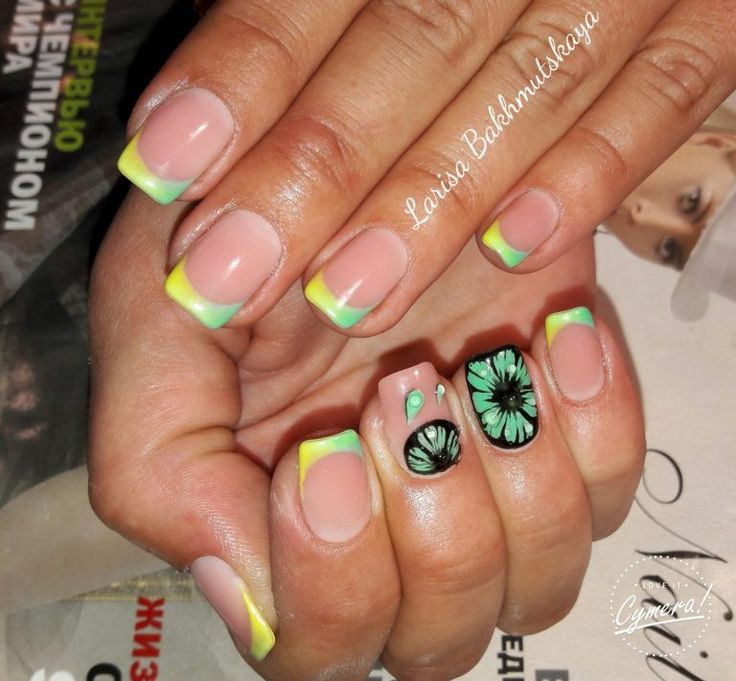 Summer 2017 Nail Designs: 1000+ Ideas About Summer French Nails On Pinterest