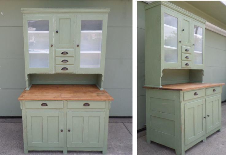, Farm Cabinet, Cottage Chic, Cabinet, China Cabinet, Celadon Green