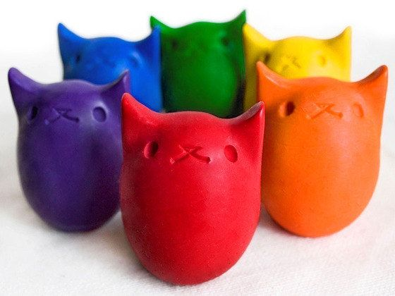 Babys First Colors - All Natural Kitty Egg Crayons