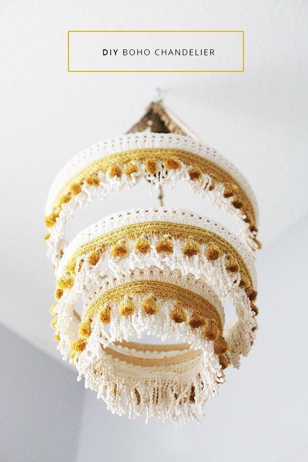 DIY Boho Crochet Chandelier (zu Ehren des Designs)