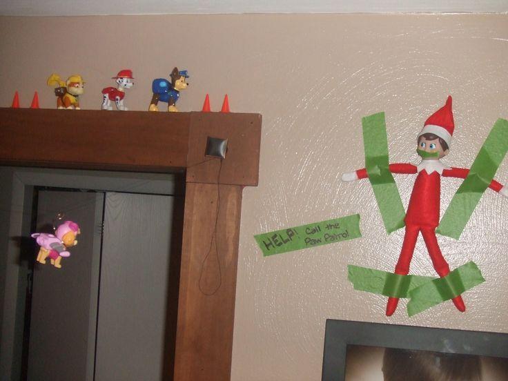 Elf On The Shelf idea - Paw Patrol to the rescue!