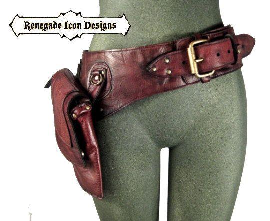 Etsy の 背教者アイコンのデザインによって革のヒップバッグ太ももバッグベルトを腰ユーティリティ by Renegadeicon