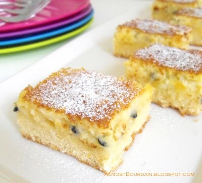 Coconut and Passionfruit Slice - bill granger Made this - it is really good like all of bill's cake recipes.