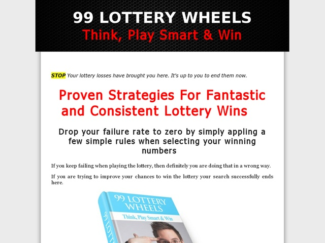 99 Lottery Wheels - A Guide For Your Lottery Jackpot Review  Get Full Review : http://scamereviews.typepad.com/blog/2013/04/99-lottery-wheels-a-guide-for-your-lottery-jackpot-get-for-free.html