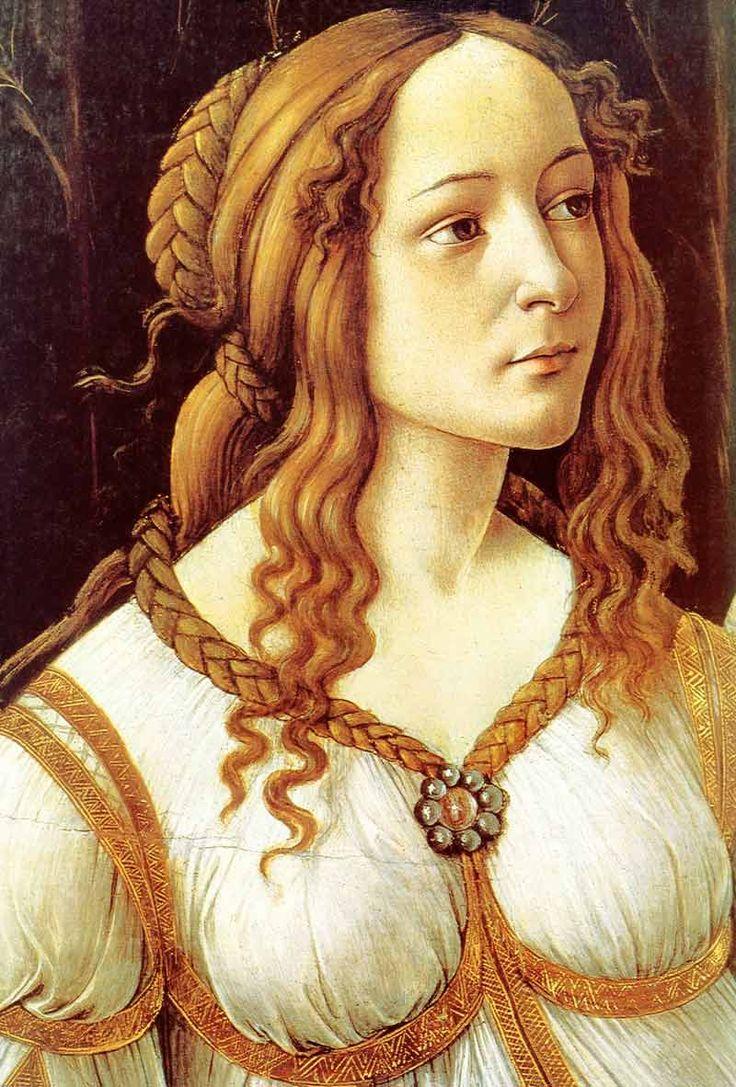Resultado de imagen para botticelli venus y marte simonetta detail