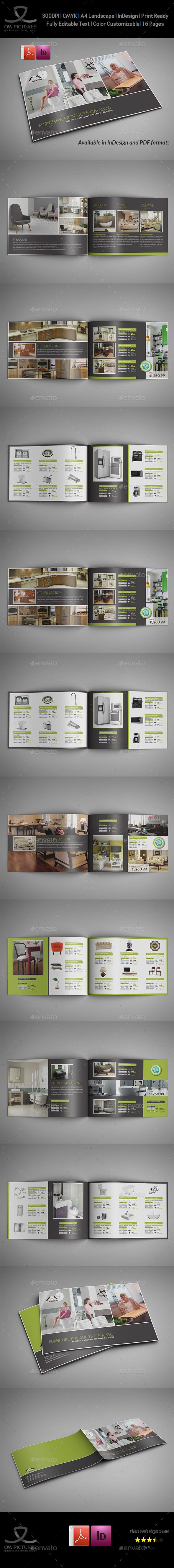 Furniture Products Catalog Brochure - 16 Pages Template InDesign INDD #design Download: http://graphicriver.net/item/furniture-products-catalog-brochure-16-pages/13338545?ref=ksioks