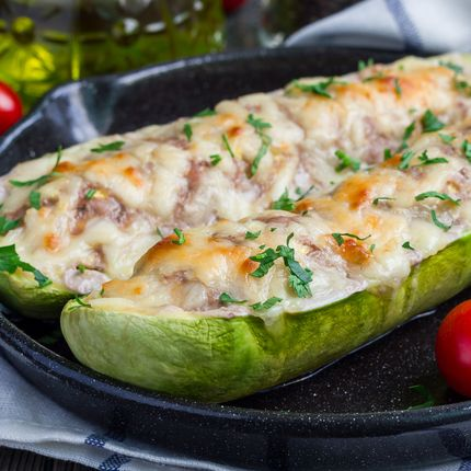 Grilled Zucchini Boats - Recipes - Sprouts Farmers Market