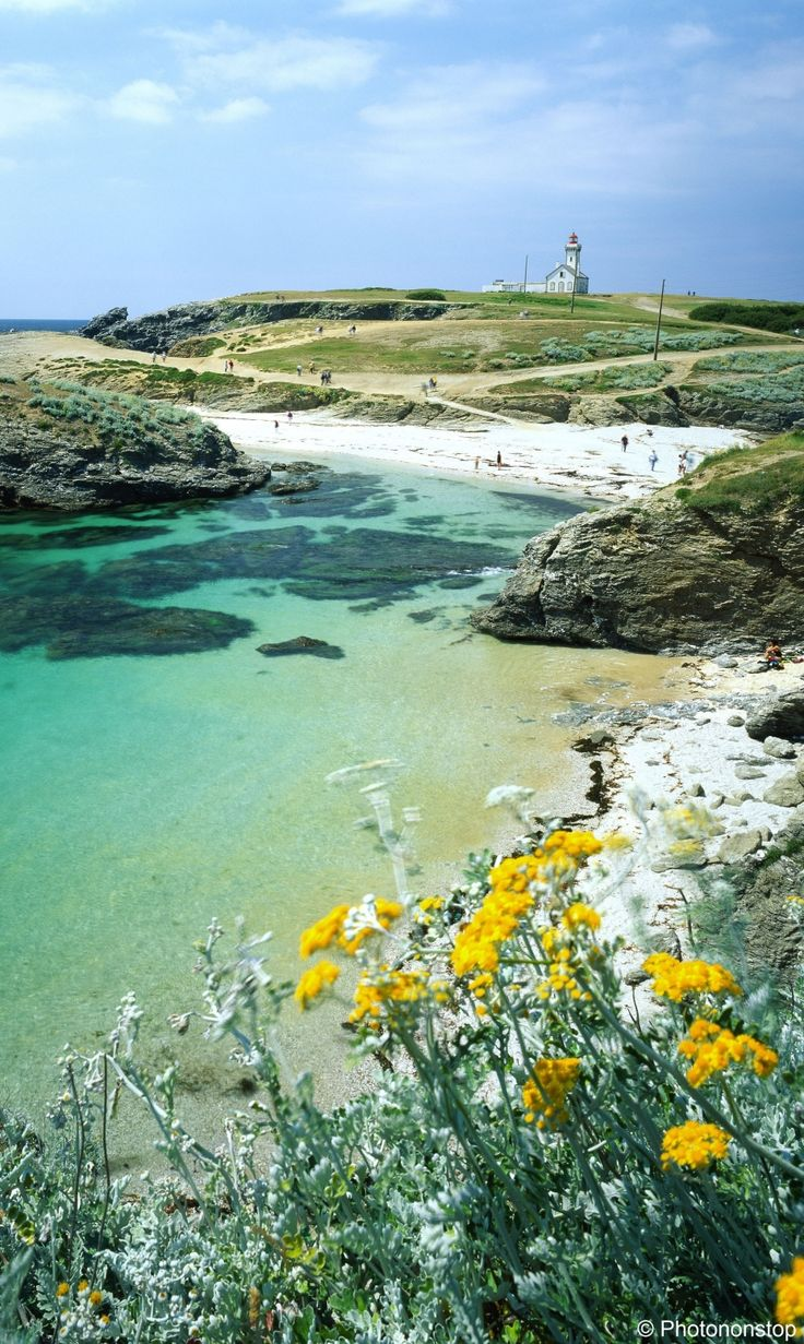 Belle-Ile-en mer, an island off the west coast of France where you can bike around and enjoy fresh seafood.