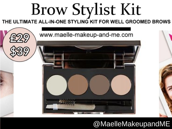 Maelle Brow Stylist Kit  Targets • Brows that need definition, shape and colour Results • Natural-looking, beautiful brows