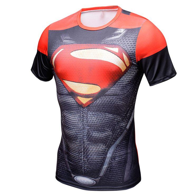 MEW Men bodys armour marvel captain america/superman/batman/punisher compression T-Shirt //Price: $15.99 & FREE Shipping //   #fandom #superhero #batman #superman #spiderman #avengers #marvel