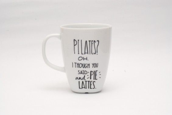PILATES?OH. I THOUGH YOU SAID PIE AND LATTES - Jędrki -