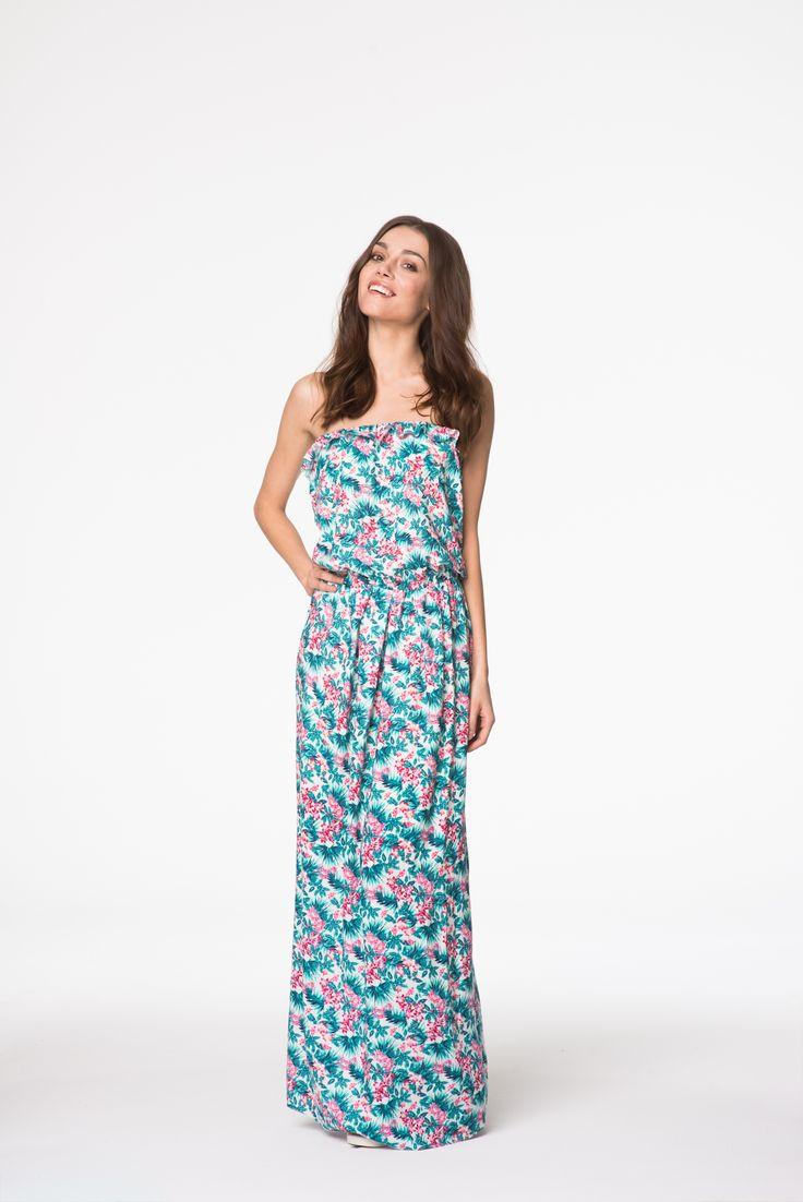 Cudowna sukienka maxi w kwiaty