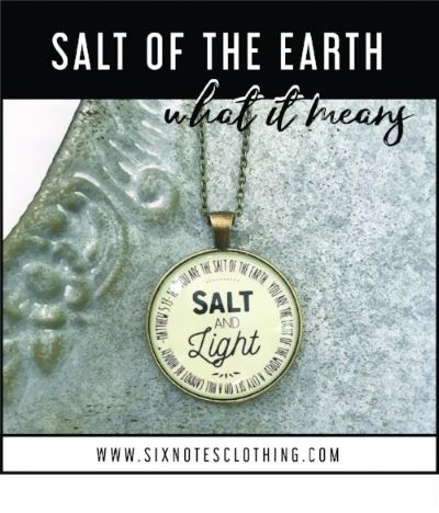 what does it mean to be the salt of the earth... diving ...