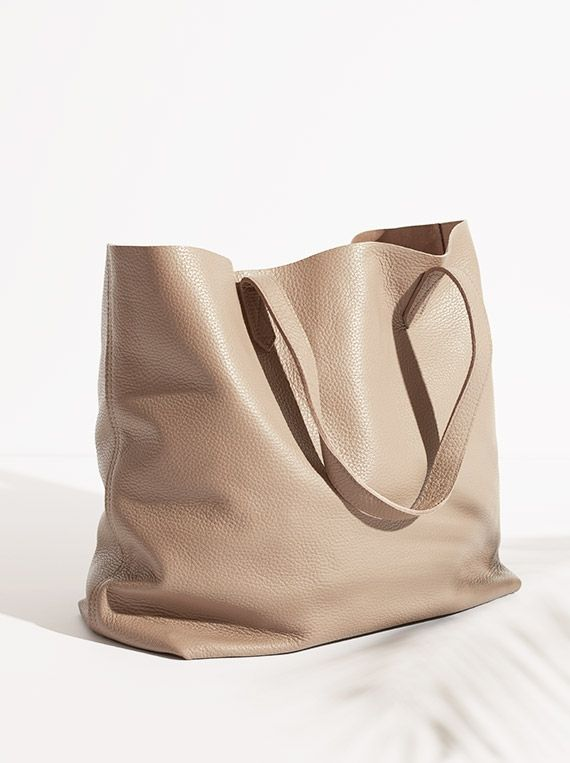 Light leather tote