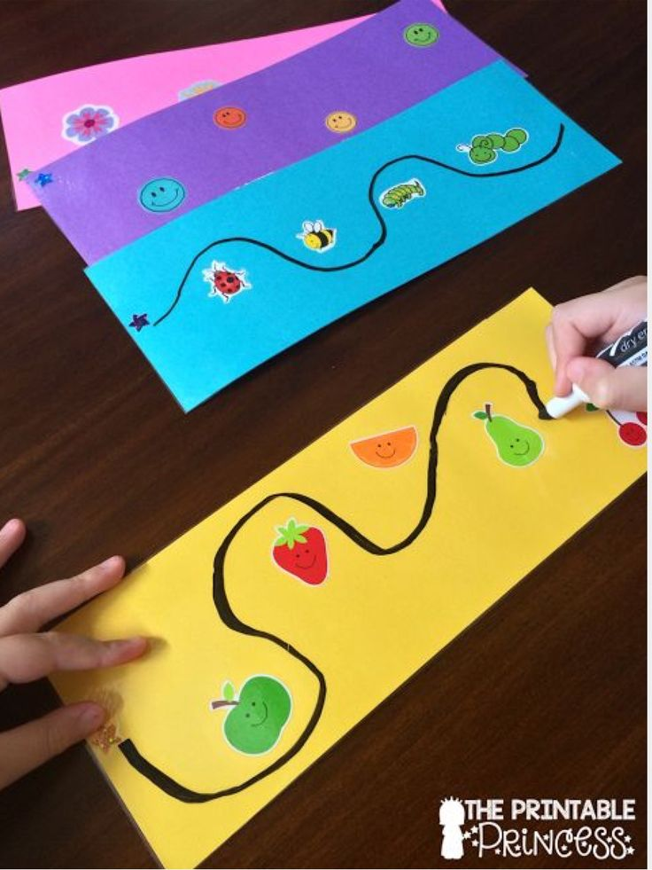 This writing activity requires visual motor skills because the child needs to know where his or her hand is during the activity in order to draw the line around the stickers. If the child does not know where his or her hand is, they will run the marker into the sticker.
