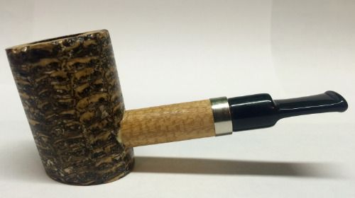 "DAGNER COB ""SITTING POKER"" CUSTOM BY MISSOURI MEERSCHAUM CORN COB PIPE"