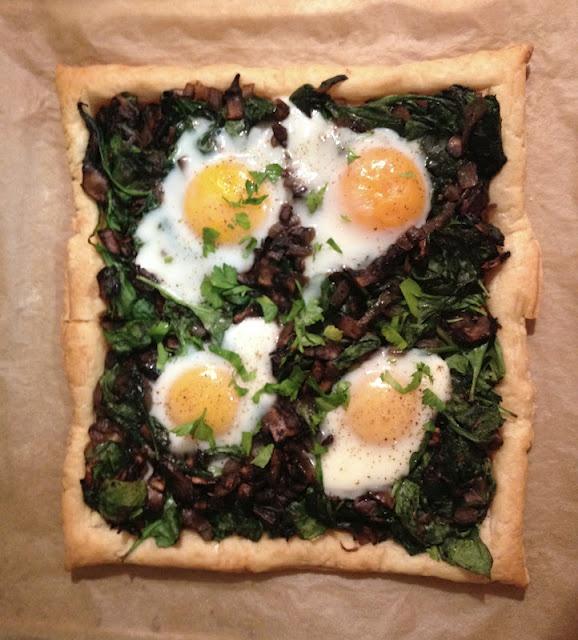 Spinach Mushroom Egg Tart | Eating Time! | Pinterest