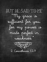 2 Corinthians 12:9 Sweet Blessings: Chalk Verses~ Set #1