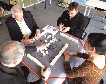 Mahjong mastery clicks and clacks - with expats