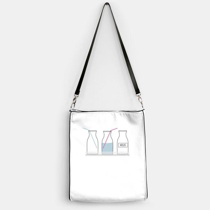 Bottles Bag minimalistic illustration