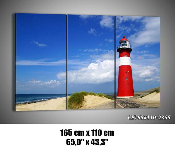BILD LEINWAND BILDER (48 Muster) DIGITAL ART Strand Meer Laterne 2395 de