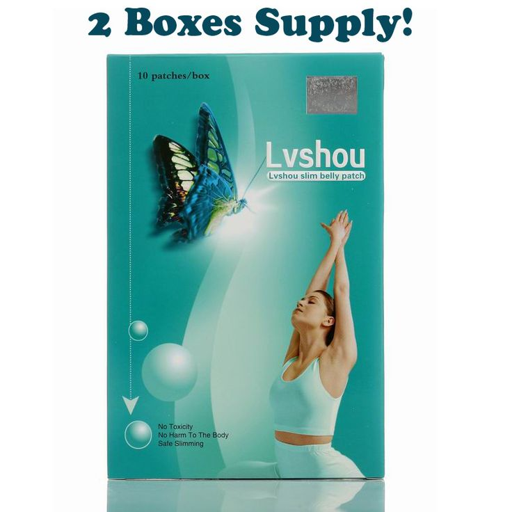 1 lot = 2 boxes Lvshou Slimming stick Slimming Navel Sticker Slim Patch Weight Loss Burning fat fast