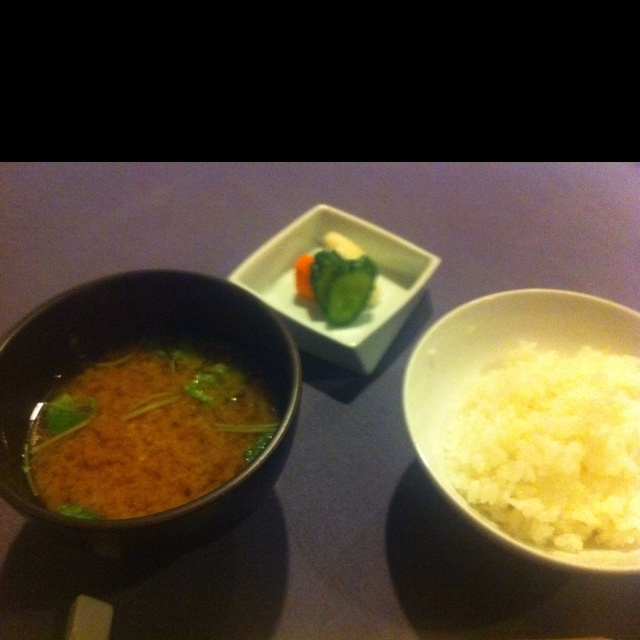 Rice & miso soup. 御飯と味噌汁