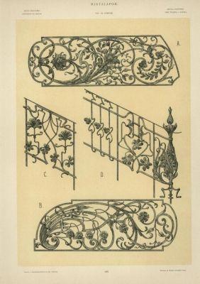 Mintalap - kapubetétek és lépcsőrács terve
