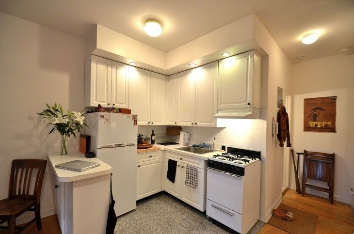 Small Kitchen With Smart Lighting And Beautiful Design - pictures, photos, images