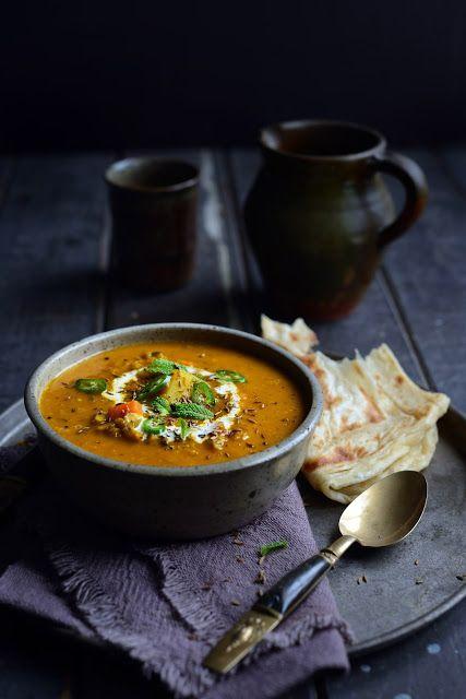Fragrant Spiced Indian Vegetable & Lentil Soup