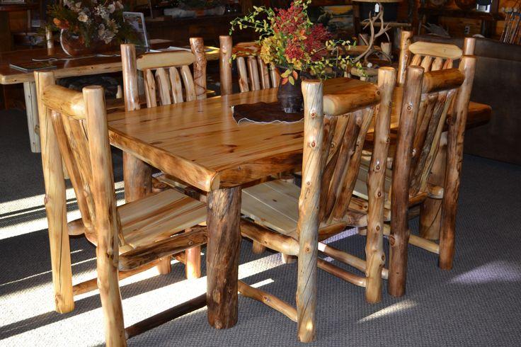 Aspen Log Dining Room Furniture
