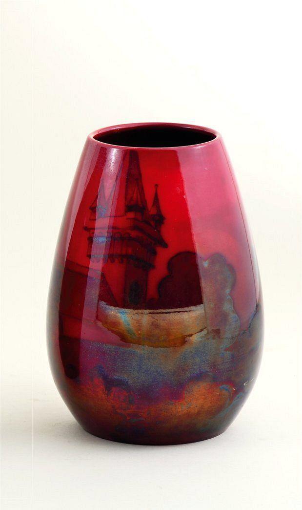 Zsolnay váza panorámaképpel