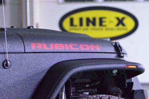 JEEP(ジープ) ラングラーJK RUBICON(ルビコン)ロゴ LINE-X塗装カスタム