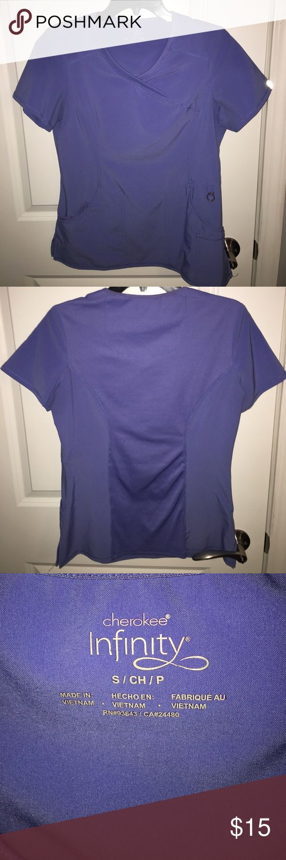 Cherokee Infinity Seal Blue Women's Scrub Top. Gently used Cherokee Infinity Women's Seal Blue Scrub top size small. I have 2 of these available for sale. Cherokee infinity Other
