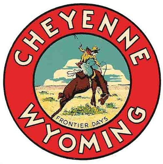Vintage 1950 S Style Cheyenne Wy Wyoming National Park Etsy In 2020 Vintage Travel Cheyenne Wyoming Travel Stickers