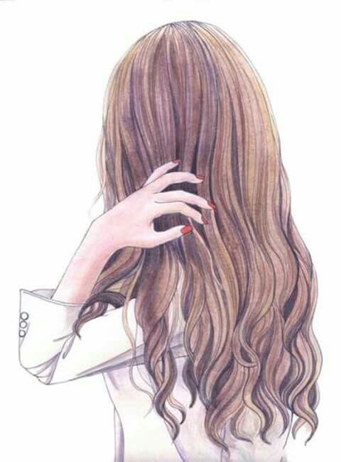how to draw beautiful hair