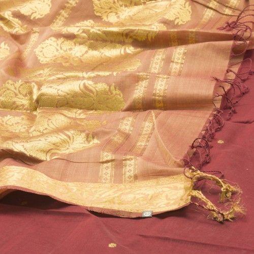 Organic Cotton Sari maroon