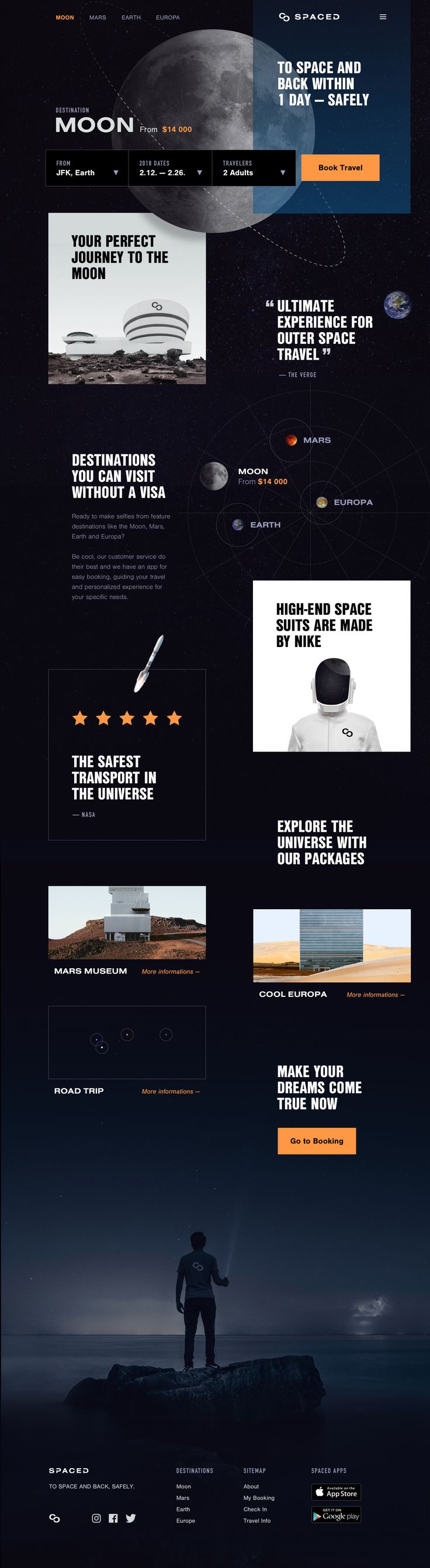 Spaced Website Design
