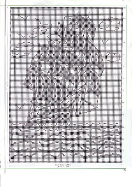♥ Boat In Filet Crochet ...
